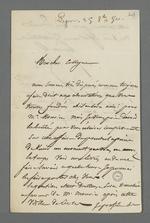 Lettre d'Arquillière, marchand-fabricant à Pierre Charnier au sujet de l'affaire qui l'oppose à un tisseur.