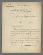 Lettre de Pierre Charnier et Morel, tous deux conseillers prud'hommes, adressée au préfet du Rhône, présentant la demande d'une nouvelle enquête pour vérifier les résultats d'une première contre-enquête effectuée à leur insu.