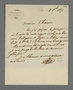 Lettre d'Isaac-René Patry, arbitre de commerce, adressée à Pierre Charnier.