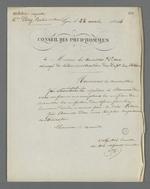 Réponse de Pierre Charnier qui accepte l'offre du conseiller d'Etat pour la mission de surveillance de la commande d'Etat de hamacs de marine.