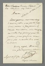 Lettre de Côte, avocat, adressée à Pierre Charnier, suivie de la réponse de ce dernier.