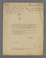 Faire-part de décès de Charles Bret, membre et doyen d'âge du Conseil des Prud'hommes.