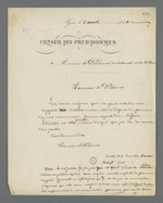 Lettre de Pierre Charnier adressée au président du tribunal civil afin d'expliquer le retard de son rapport d'expertise causé par l'absence de nomination.