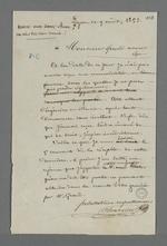 Réponse de Pierre Charnier à Louis Grand, avocat, au sujet de sa nomination en tant qu'expert par le tribunal civil.