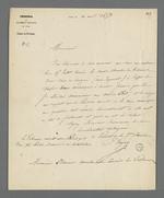 Lettre du président du tribunal civil adressée à Pierre Charnier dans laquelle il l'informe de sa nomination pour l'expertise de machines à dévider.