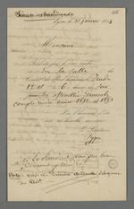 Assemblée générale du Conseil des Prud'hommes, convocation et notes relatives au compte-rendu.