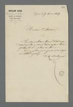 Notification du report de la réunion d'arbitrage du conflit qui oppose deux associés, par l'arbitre de commerce, Bellay aîné.