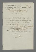 Note de Pierre Charnier, adressée au juge du tribunal de commerce dans laquelle il déclare lui transmettre une lettre de la veuve Daudet, témoignant du caractère extrêmement urgent de l'affaire qui oppose cette dernière à son associé.