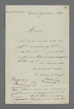 Convocation de Pierre Charnier au greffe du Conseil des Prud'hommes pour concilier une affaire, suivie d'une note de ce dernier concernant Félix Bertrand, président du Conseil.