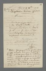 Convocation de Pierre Charnier au Conseil des Prud'hommes pour l'adoption du nouveau réglement du Conseil, suivie de notes de ce dernier.
