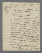 Lettre adressée à Pierre Charnier dans laquelle on le prie d'arbitrer un affaire opposant un chef d'atelier et son contremaître.