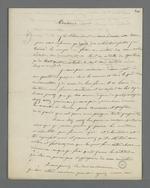 Lettre du détenu Joseph Louis, adressée au président du Conseil des Prud'hommes dans laquelle il lui adresse une requête.