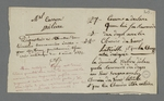 Déposition versée à un dossier d'arbitrage, suivie de notes de Pierre Charnier sur les qualités de son collègue prud'homme, Troy, qui s'en est occupé.