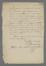 Compte-rendu de conciliation d'une affaire opposant un ouvrier en soie et un menuisier.