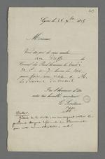 Convocation de Pierre Charnier au greffe du Conseil des Prud'hommes pour une visite au président du Conseil.