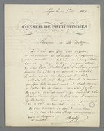 Règlement d'un différent entre deux figures du milieu de la Fabrique : Carquillat contre Philibert Roussy.