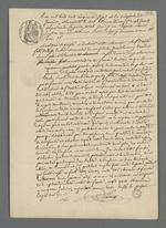 Copie adressée à Pierre Charnier par l'huissier du tribunal civil concernant le procès-verbal que Pierre Charnier a réalisé pour l'affaire de Jean Galy.
