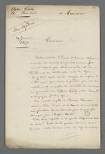 Lettre de Pierre Charnier non expédiée et non adressée.