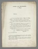 Courrier dans lequel Arquillière annonce sa non-candidature aux prochaines élections pour la présidence du Conseil des Prud'hommes.