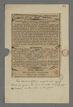 Article de presse au sujet de la souscription pour la réalisation d'une médaille en l'honneur du maire Laforest, envoyé à Pierre Charnier, avec annotations de ce dernier.