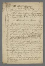 Brouillon d'une plainte des maîtres menuisiers contre la demande de création d'un Conseil des Prud'hommes du bâtiment.