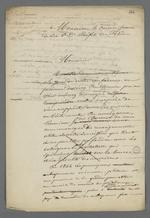 Lettre de Pierre Charnier adressée à Emmanuel Arago, préfet du Rhône, dans laquelle il lui rappelle l'historique de la demande de création d'un Conseil des Prud'hommes en bâtiment, réitérée auprès de ce dernier.