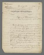 Lettre de Pierre Charnier adressée aux présidents et membres de la corporation des entrepreneurs peintres-plâtriers.