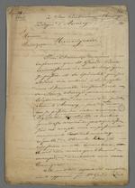 Lettre de Pierre Charnier adressée à l'évêque d'Annecy au sujet du projet d'établissement du Conseil des Prud'hommes d'Annecy.
