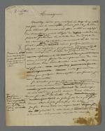 Brouillons de lettres de Pierre Charnier adressées à l'évêque d'Annecy au sujet du projet d'établissement du Conseil des Prud'hommes d'Annecy.