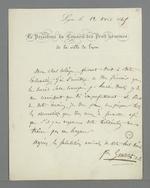 Convocation pour le prochain Conseil des Prud'hommes par le président Gentelet, séance fixée à la demande de Pierre Charnier.