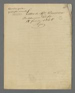 Lettre de Pierre Charnier adressée à Dervieux, prud'homme maître-fabricant, au sujet de la prescription mensuelle appliquée au salaire.