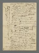 Notes de Pierre Charnier concernant le vote de la proposition de modification de la jurisprudence du Conseil des Prud'hommes en matière de piquage d'once, ainsi que les moyens à mettre en oeuvre pour combattre ce délit.