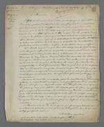 Lettre de Pierre Charnier dans laquelle il relate l'histoire de Boucher, chef d'atelier victime de fausses rumeurs l'accusant de piquage d'once, qui lui firent perdre toute sa clientèle.