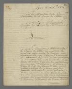 Lettre de la commission exécutive de la Caisse de prêt aux chefs d'ateliers, adressée à Pierre Charnier dans laquelle il se voit prier de participer à l'assemblée générale de l'association en sa qualité de prud'hommes.
