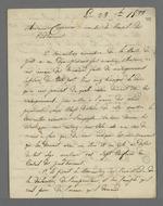 Lettre de Gamot, président de la commission exécutive de la Caisse de prêt aux chefs d'ateliers, adressée à Pierre Charnier dans laquelle il lui fournit les détails relatifs aux renseignements qu'il lui ont été demandés par la commission.