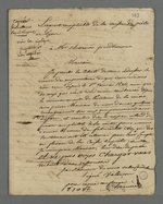 Copie de la lettre de l'agent comptable de la Caisse de prêt aux chefs d'ateliers, adressée à Pierre Charnier, suivie de la réplique préparée mais non expédiée.