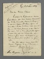 Lettre de recommandation de Grand-Clément pour le poste d'agent comptable de la Caisse de prêt, dans un courrier adressé à Pierre Charnier.