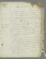 Lettre de Pierre Charnier dans laquelle il dénonce les actions de Valençot, ex-agent comptable de la Caisse de prêt aux chefs d'ateliers.