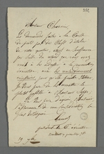Lettre de reproches adressée à Pierre Charnier par Gamot, président de la commission exécutive de la Caisse de prêt aux chefs d'ateliers.