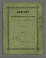 Rapport fait au conseil d'administration de la Caisse de prêt en faveur des chefs d'ateliers de la Fabrique d'étoffe de Lyon, par la commission exécutive. 28 avril 1840 Lyon (Rhône), imprimerie de Veuve Ayné, grande rue mercière, 44