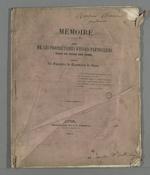 Mémoire à consulter, à l'intention des propriétaires d'essais particuliers pour le titre des soies, contre la Chambre de Commerce de Lyon. 1845 Lyon (Rhône), imprimerie de Pommet, rue de l'Archevêché, 5