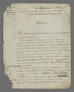 Lettre de Pierre Charnier adressée aux présidents et membres de la commission exécutive de la Caisse de prêt aux chefs d'ateliers.