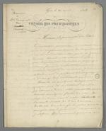 Plaidoyer de Pierre Charnier adressé au procureur du Roi, pour Curial, ouvrier en soie, mis en détention préventive sous l'accusation de piquage d'once.