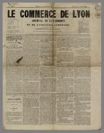 Article traitant de la liquidation de la Caisse de prêt, en première page du journal le Commerce de Lyon.