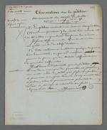 Notes explicatives de Pierre Charnier au sujet de son refus de signer la pétition concernant la Caisse de prêt.