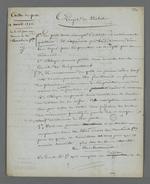 Lettre de Pierre Charnier adressée à Pierre Magne, ministre des finances, dans laquelle il lui demande de ne pas liquider la Caisse de prêt en reprenant la somme allouée par le ministère, et lui présente son projet de réforme des statuts de la Caisse de prêt.