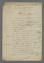 Lettre de Pierre Charnier adressée aux employés de la Caisse de prêt dans laquelle il leur apprend que, grâce à ses efforts, le président Balleidier a accordé certaines améliorations dans les bureaux de la Caisse.