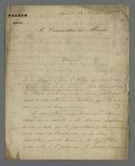Réponse de Therriat, conservateur du Palais du Commerce et des Arts, adressée à Pierre Charnier, concernant la demande de celui-ci d'avoir accès à un tableau de Titien que possède Therriat.