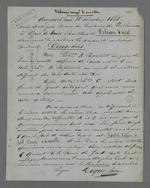 Certificat de dépôt pour cinq ans d'échantillons de velours à poil coupé et à maille, par la maison Roque frères, déposés auprès du Secrétariat du Conseil des Prud'hommes.