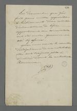Notes de Pierre Charnier concernant ses démarches inabouties pour empêcher le retrait d'une des collections du Conservatoire des Tissus.